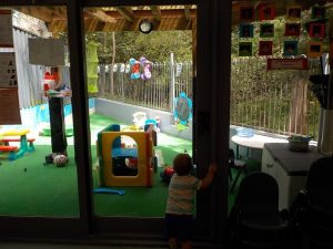 Baby's outdoor play area